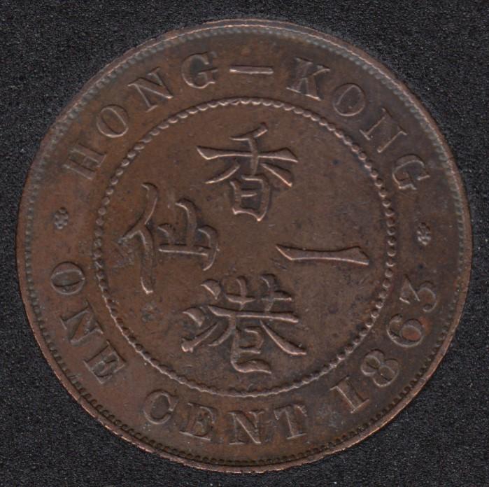 1863 - 1 Cent - Hong Kong