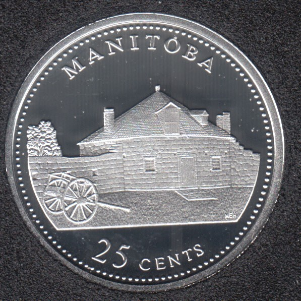 1992 - #4 Proof - Silver - Manitoba - Canada 25 Cents