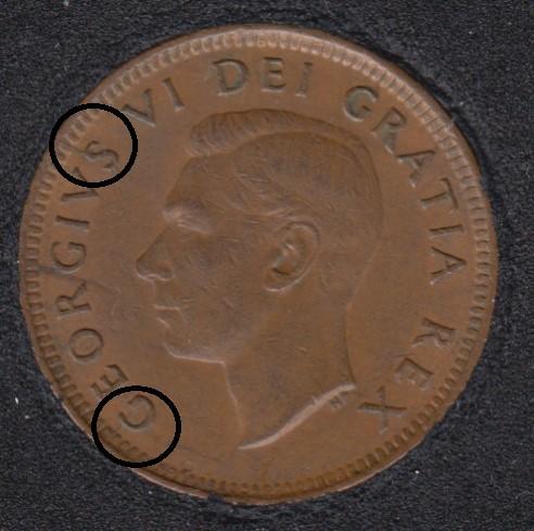 1952 - Break G S to Rim - Canada Cent