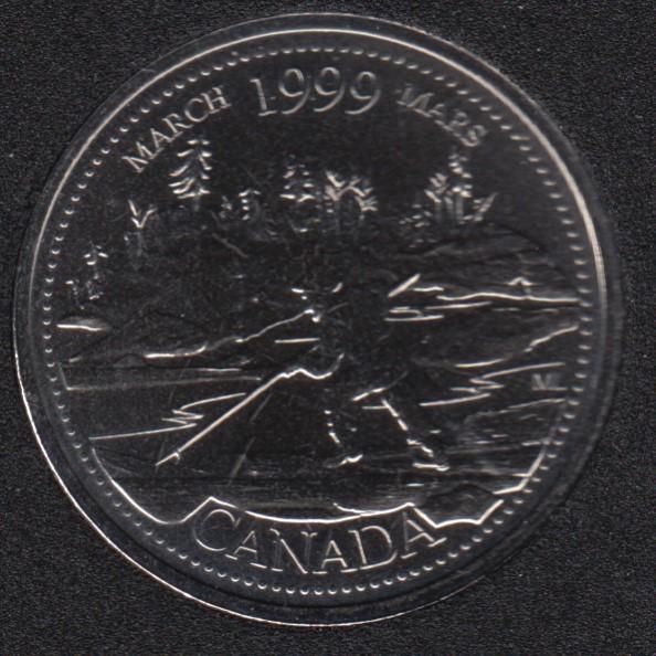 1999 - #3 NBU - March - Canada 25 Cents