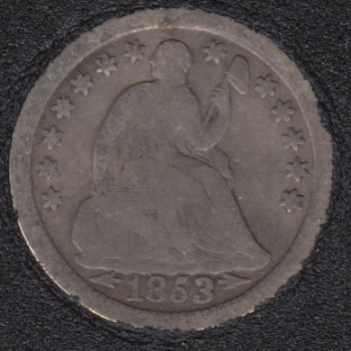 1853 O - Liberty Seated - Half Dime