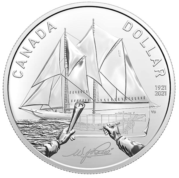 2021 1921 - Bluenose - NBU - Argent Fin - Canada Dollar