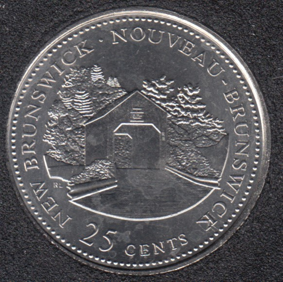 1992 - #1 B.Unc - New Brunswick - Canada 25 Cents