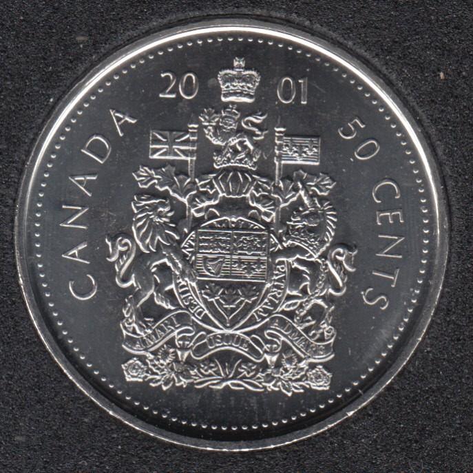 2001 P - B.Unc - Canada 50 Cents
