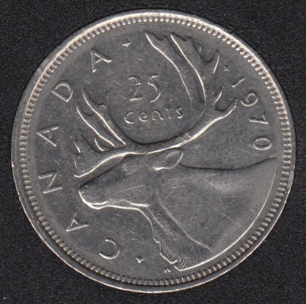 1970 - Canada 25 Cents Circuler