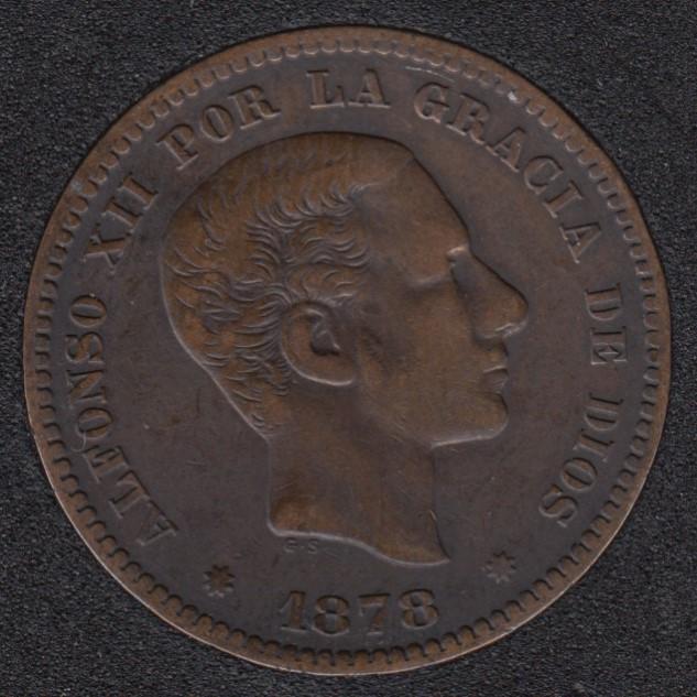 1878 - 5 Centimos - EF - Spain