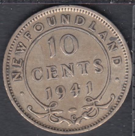 Terre Neuve - 1941 C - VF/EF - 10 Cents
