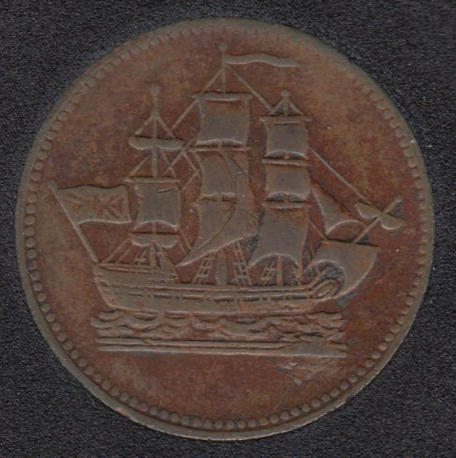 P.E.I. Ship Colonies & Commerce - Half Penny Token - PE-10-12