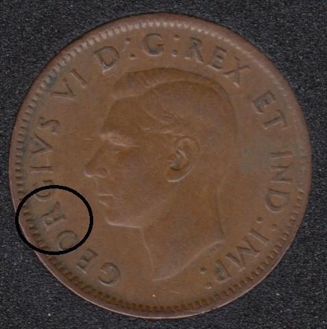 1942 - Break R to Rim - Canada Cent