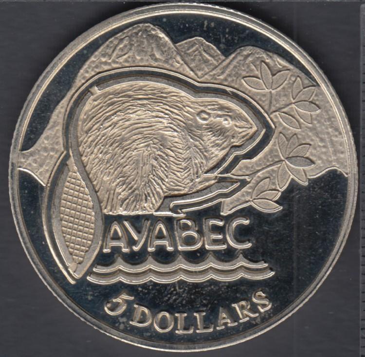Sayabec - 1984 - Centenary - Matrice #1 - $5 Trade Dollar