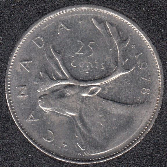 1978 - Small Denticles - Canada 25 Cents