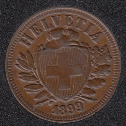 1899 B - 2 Rappen - Suisse