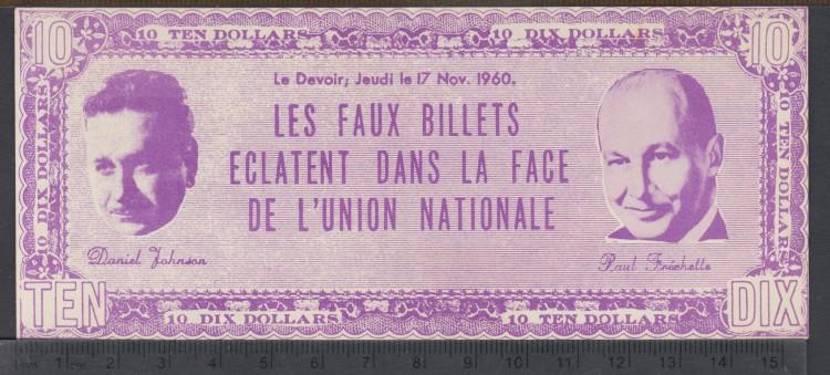 1960 - Le Devoir - Les Faux Eclatent dans la Face du L'Union Nationale