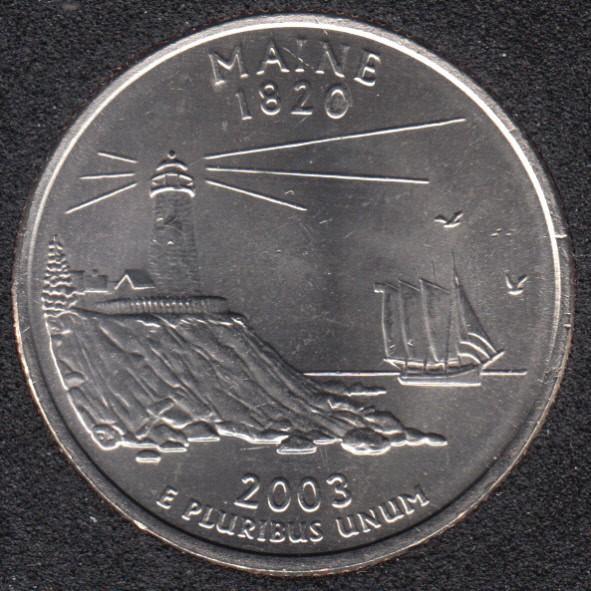2003 P - Maine - 25 Cents