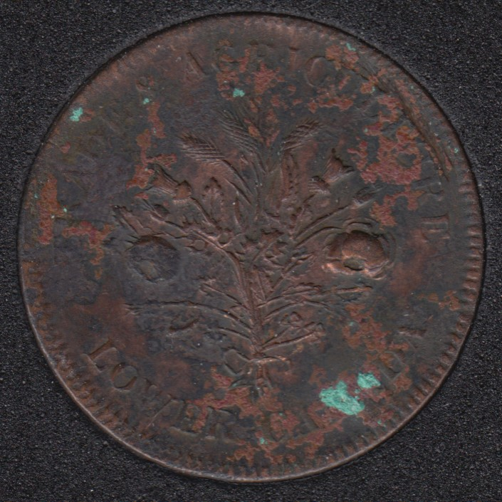 L.C. Bouquet Sou Token - Trade & Agriculture Lower Canada - Observe English Legend - Montreal - LC-37