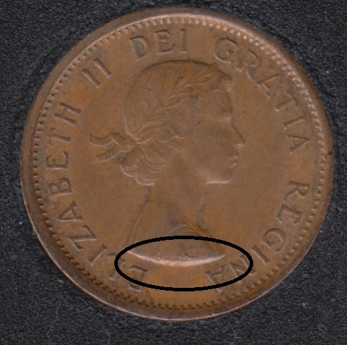 1959 - Planchet Flaw - Canada Cent