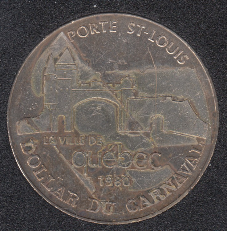 Quebec - 1980 Carnaval de Québec - Eff. 1963 / Porte St-Louis - Dollar de Commerce