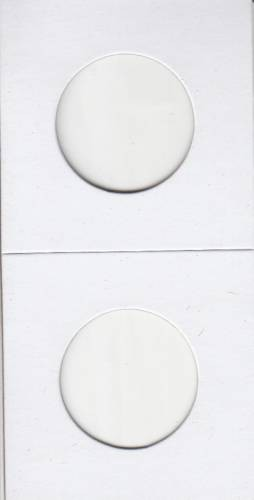 Paquet de 100 Flipettes de carton 2X2 pour les Dollar Huards et Grosse cent