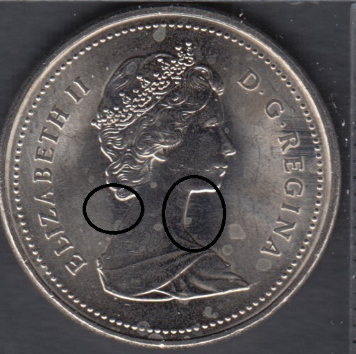 1989 - B.Unc - Movong Queen - Canada 5 Cents