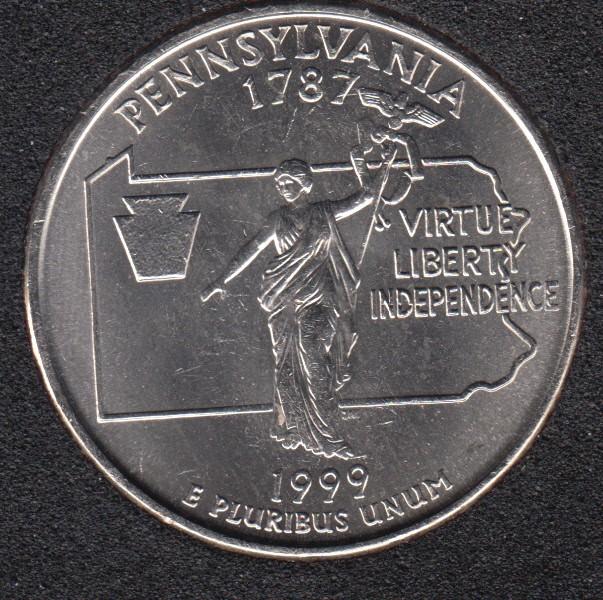 1999 P - Pennsylvania - 25 Cents