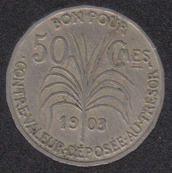 1903 - 50 Centimes - Guadeloupe