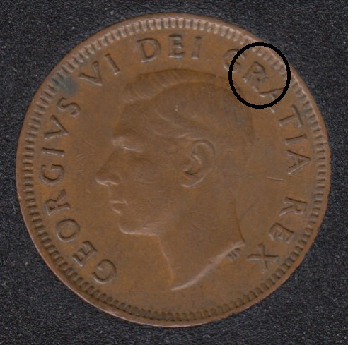 1952 - Break Head to R to Rim - Canada Cent