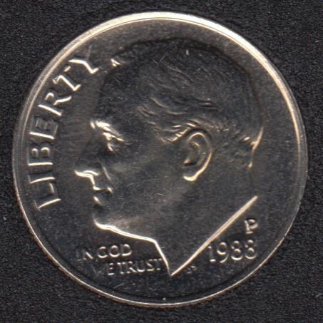 1988 P - Roosevelt - B.Unc - 10 Cents