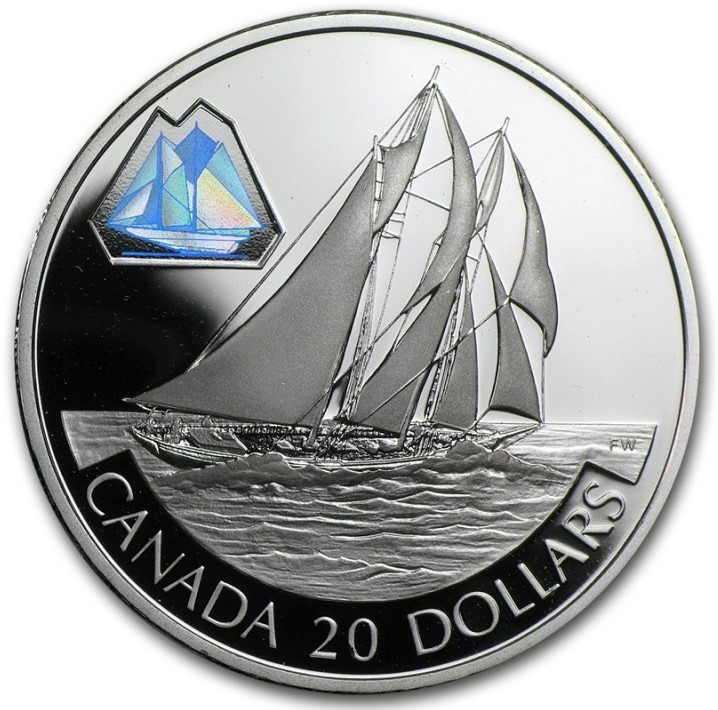 2000 - $20 - Transportation Schooner 'The Bluenose' - Proof Silver
