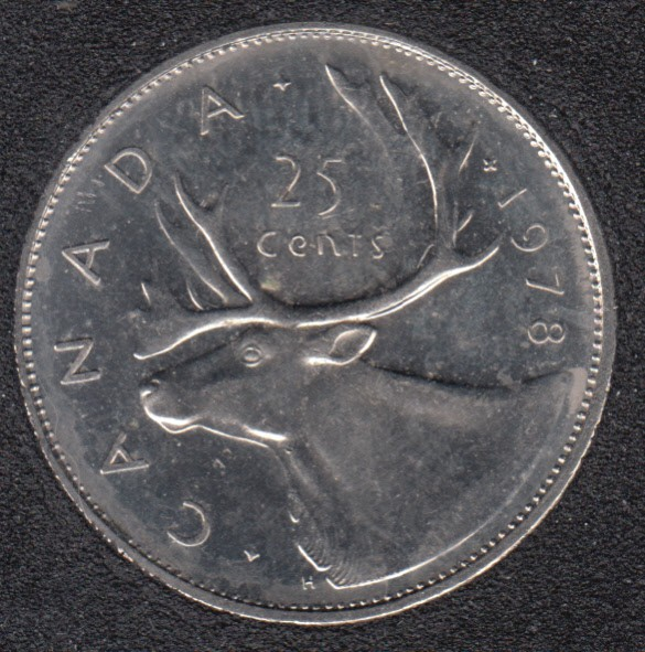 1978 - B.Unc - Small Denticles - Canada 25 Cents