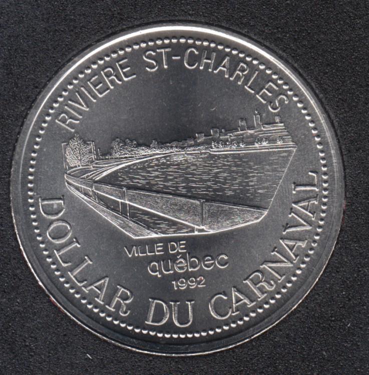 Quebec - 1992 Carnaval de Québec - Pal. 1970 / Rivière St-Charles - $2 Dollar de Commerce