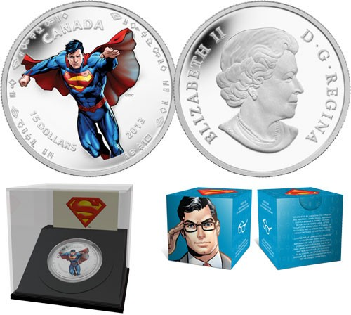 2013 - $15 - 1/2 oz Fine Silver Coin - Modern Day Superman