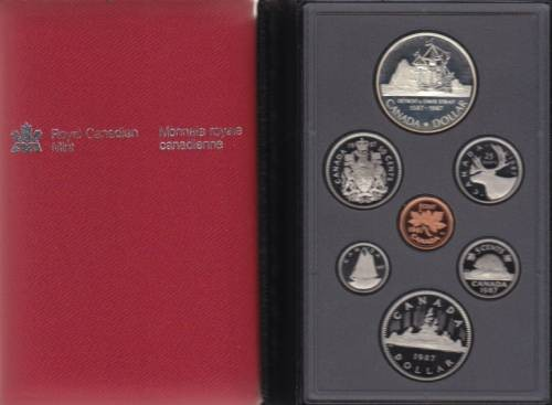 1987 Canada Double Dollar Proof Set Canada Coins