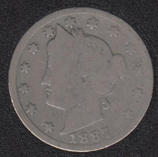1887 - Liberty Head - 5 Cents