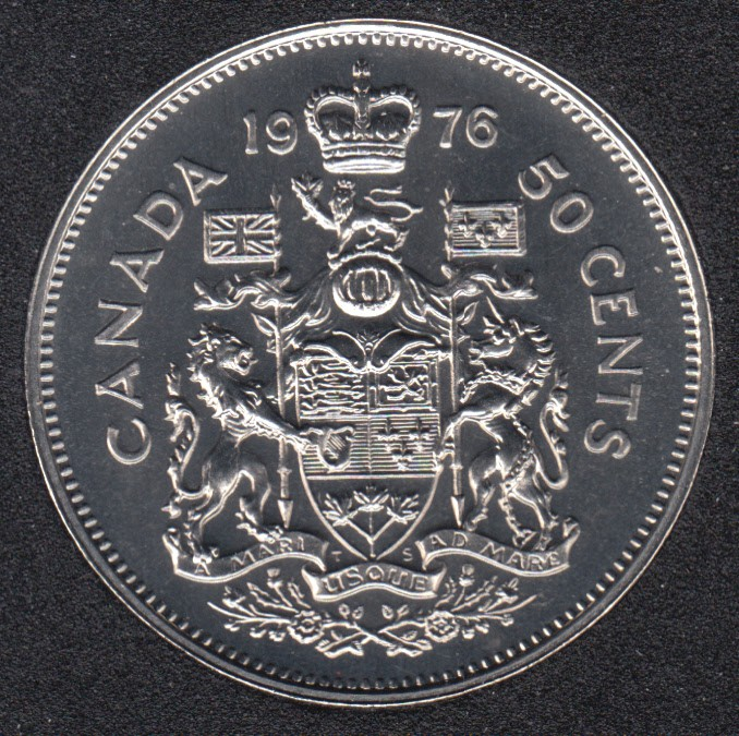 Canada 1976 Proof Like Fifty Cent Piece!!