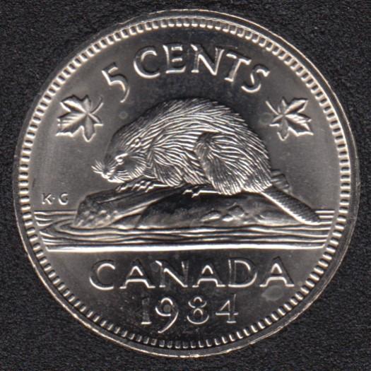 1984 - B.Unc - Canada 5 Cents