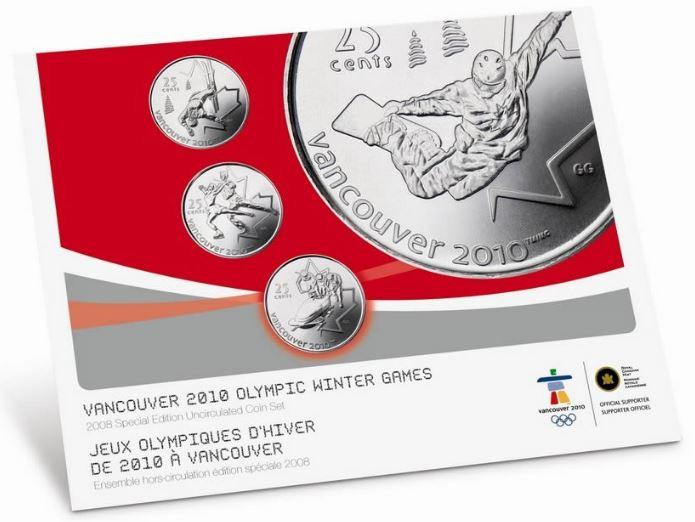 2008 Edition Olympique SPECIAL Ensemble Hors-Circulation - Vancouver 2010