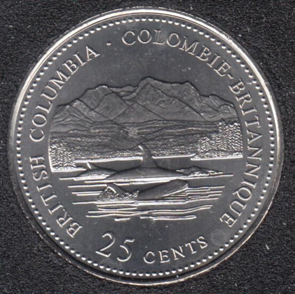 1992 - #912 B.Unc - British Columbia - Canada 25 Cents