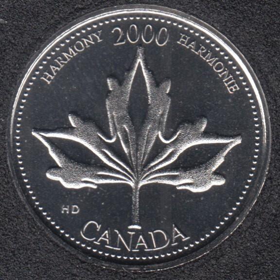2000 - #6 B.Unc - Harmonie - Canada 25 Cents
