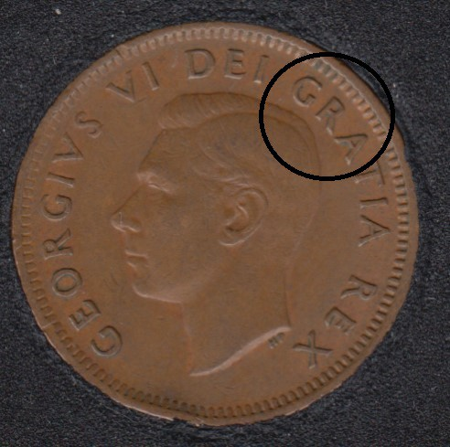 1952 - Double GRA - Canada Cent