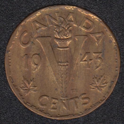 1943 - Tombac - B.Unc - Canada 5 Cents