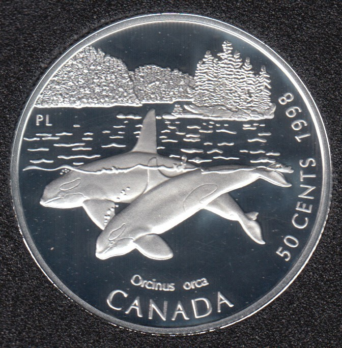 1998 - Proof - Épaulard - Argent Sterling - Canada 50 Cents