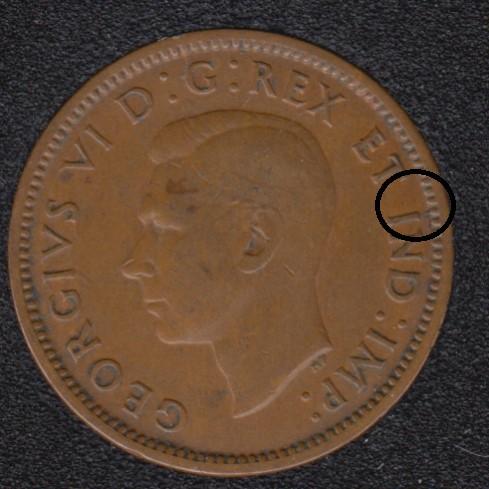 1940 - Break I to Rim - Canada Cent