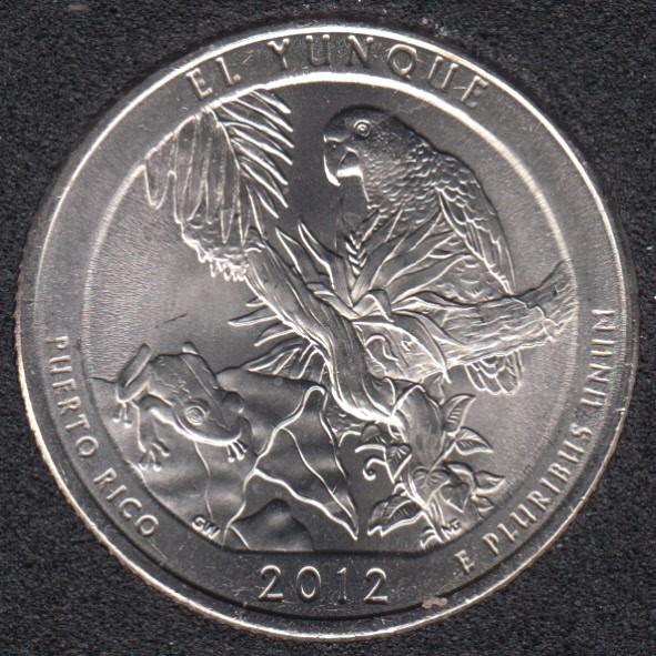 2012 P - El Yunque - 25 Cents