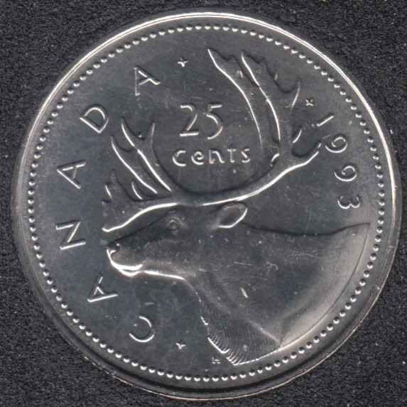 1993 - B.Unc - Canada 25 Cents