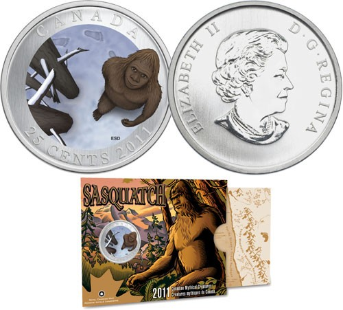2011 - 25Cent - Coloured Coin - Sasquatch