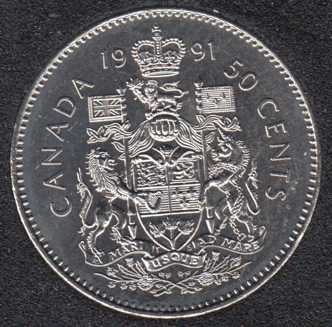 1991 - B.Unc - Canada 50 Cents