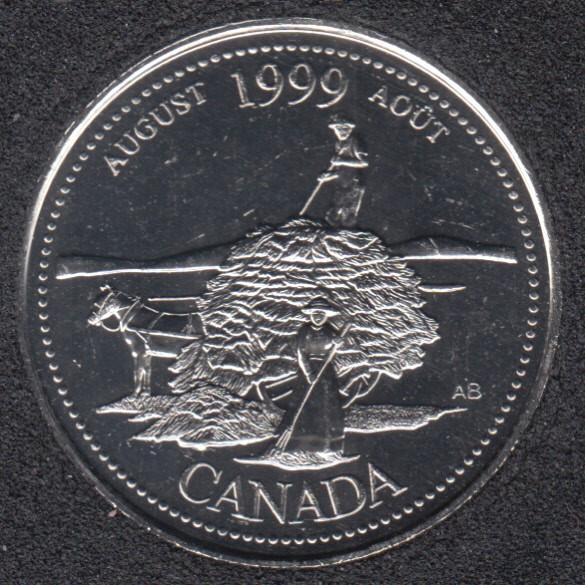 1999 - #8 B.Unc - Août - Canada 25 Cents