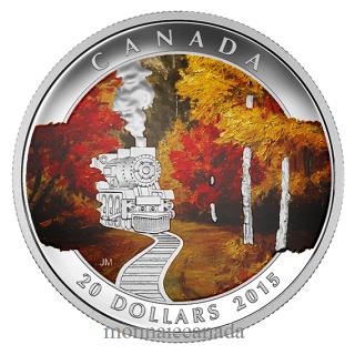 2015 - $20 - 1 oz. Fine Silver Coloured Coin – Autumn Express