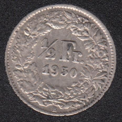 1950 B - 1/2 Franc - Switzerland