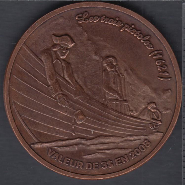 Trois-Pistoles / Les Basques - 2008 - La Légende des Trois-Pistoles - (Cuivre oxidé 125 pcs) $3 Dollar de Commerce